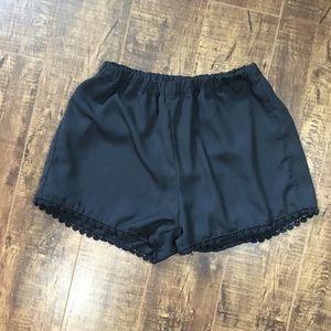 Trim detail black brandy Melville shorts